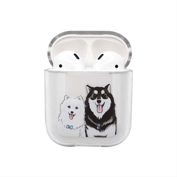 Cute Doggies Pattern AirPods Case 🐾